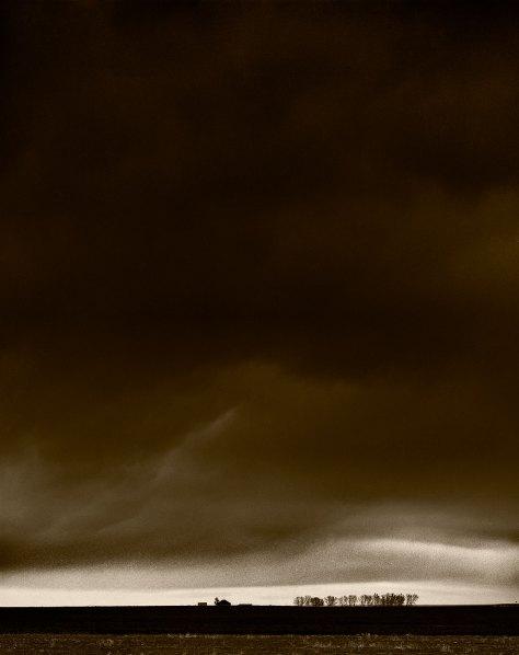 Storm And Farmhouse, Colorado Plains