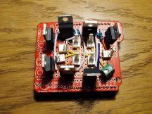 Arduino shield to control 7 halogen lights using PWM.