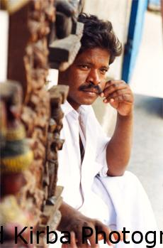 Portrait of shopkeeper, southern India