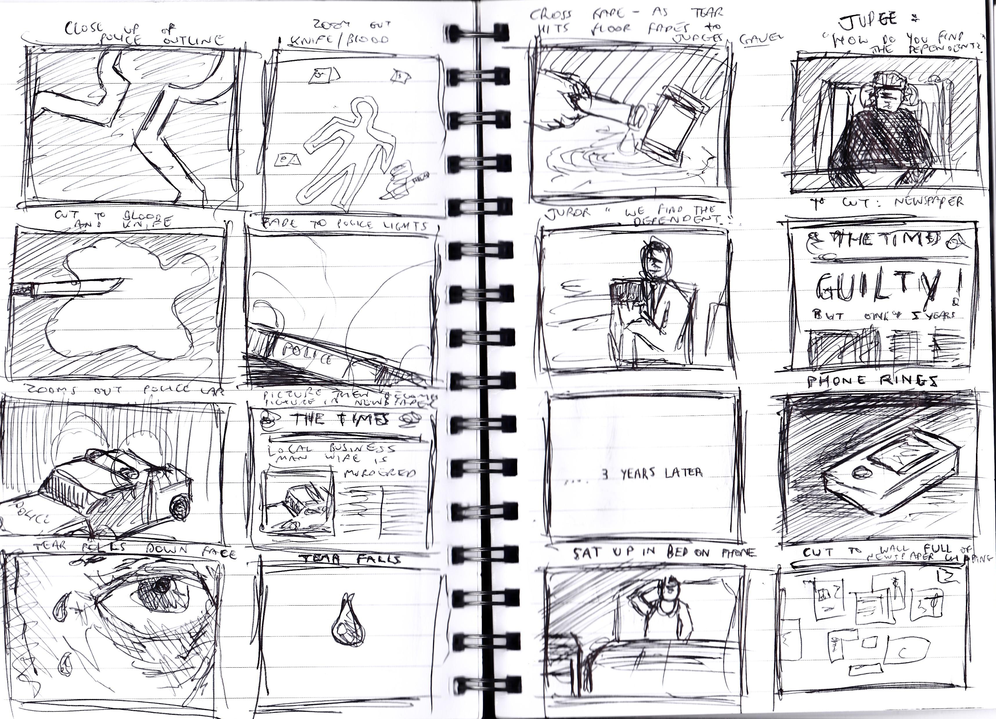 FICTION PROJECT – ROUGH STORYBOARD | David Kirk