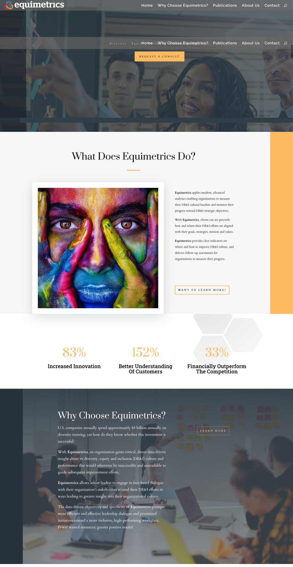 equimetrics home page designed by david lafontaine senior ux researcher and designer
