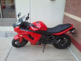 """A scooter that I took a pic of outside of the local Boulder, CO """"Target"""""""