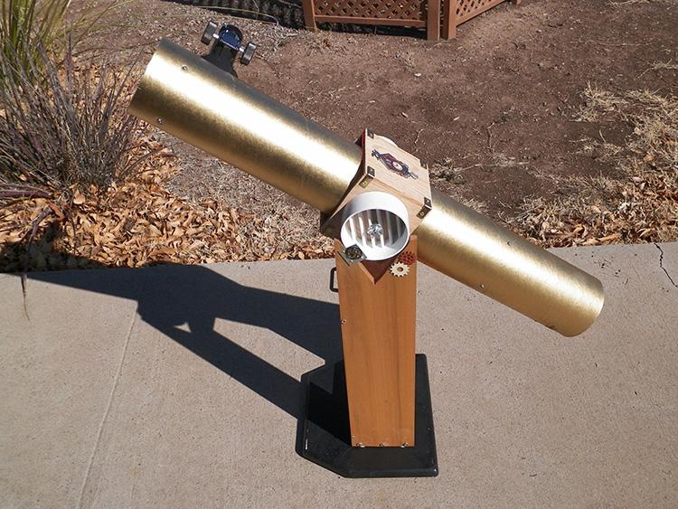steampunk telescope david lee