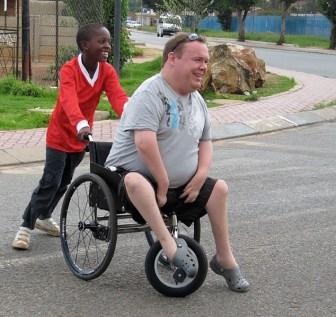 I Soweto med Blitz Academy-projektet