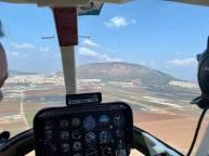 Helikopterflygning från Gaza till Golan och gränsen till Libanon. Otroligt att man kan flyga över så stora delar av landet, på en timme. Uppe vid gränsen fick vi information om hoten från Hizbollah och Iran.