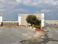 Studiebesök på Keren Shalom Checkpoint i Gaza där, i stort sett, alla transporter med mat och utrustning tas in i Gaza.