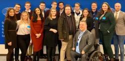 Nästa besök var styrelsen i Kristdemokratiska ungdomsförbundet. Vi hade en trevlig stund där jag kunde berätta lite mer om mitt arbete i utrikesutskottet och utskottet för mänskliga rättigheter.