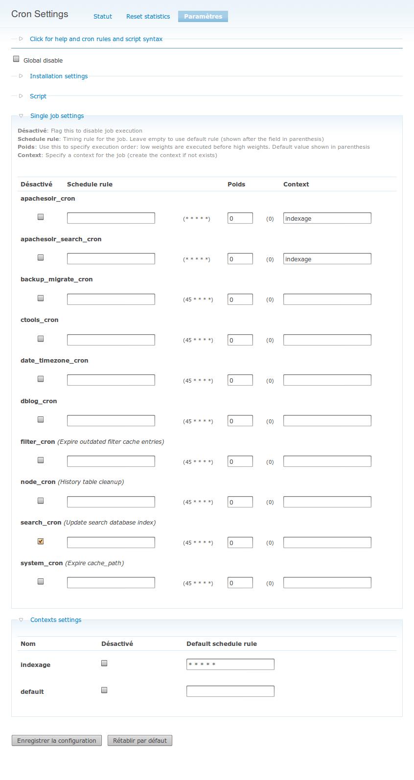 Maintenir à jour l'index Solr d'un site Drupal // David