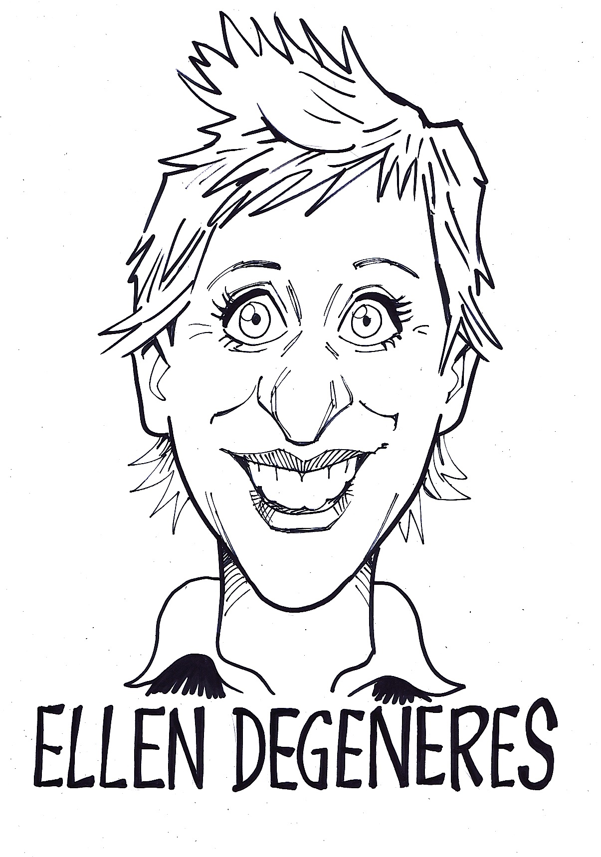 Celebrity Sketches for ITVs Tricked programme  David