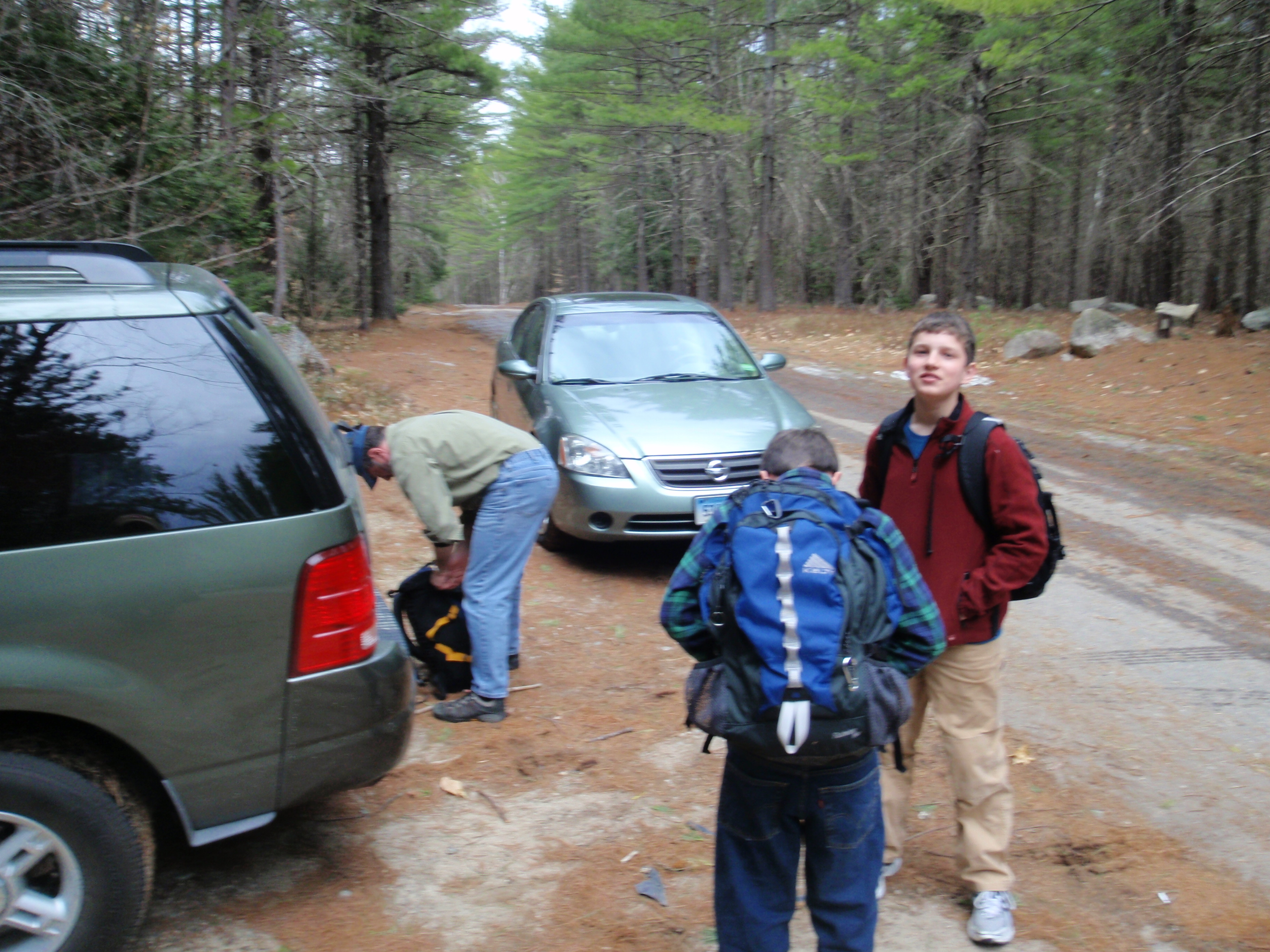 Gearing up on the Cathedral Ledge Auto Road