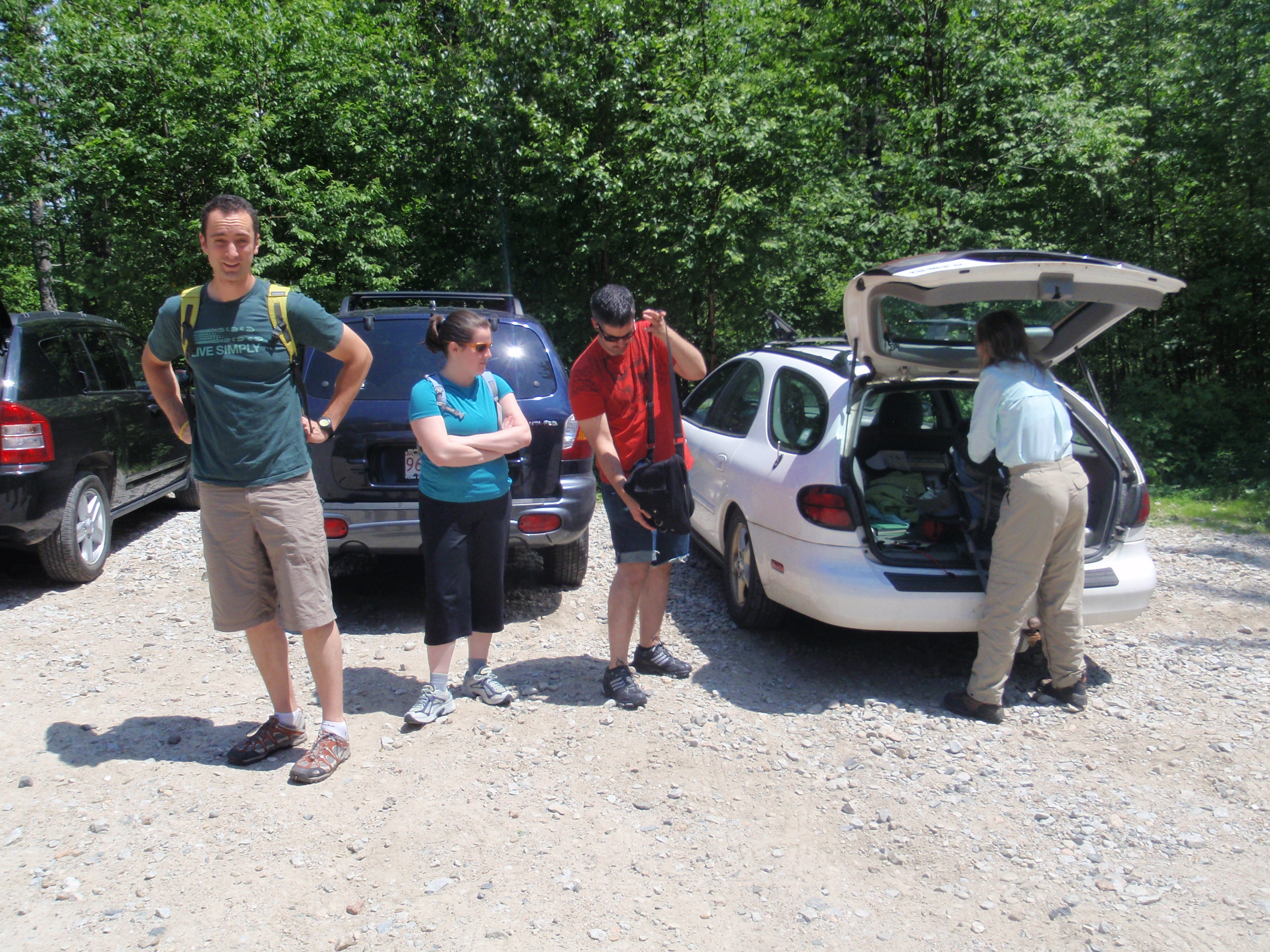 We drove up to the Black Cap Trailhead for our field portion