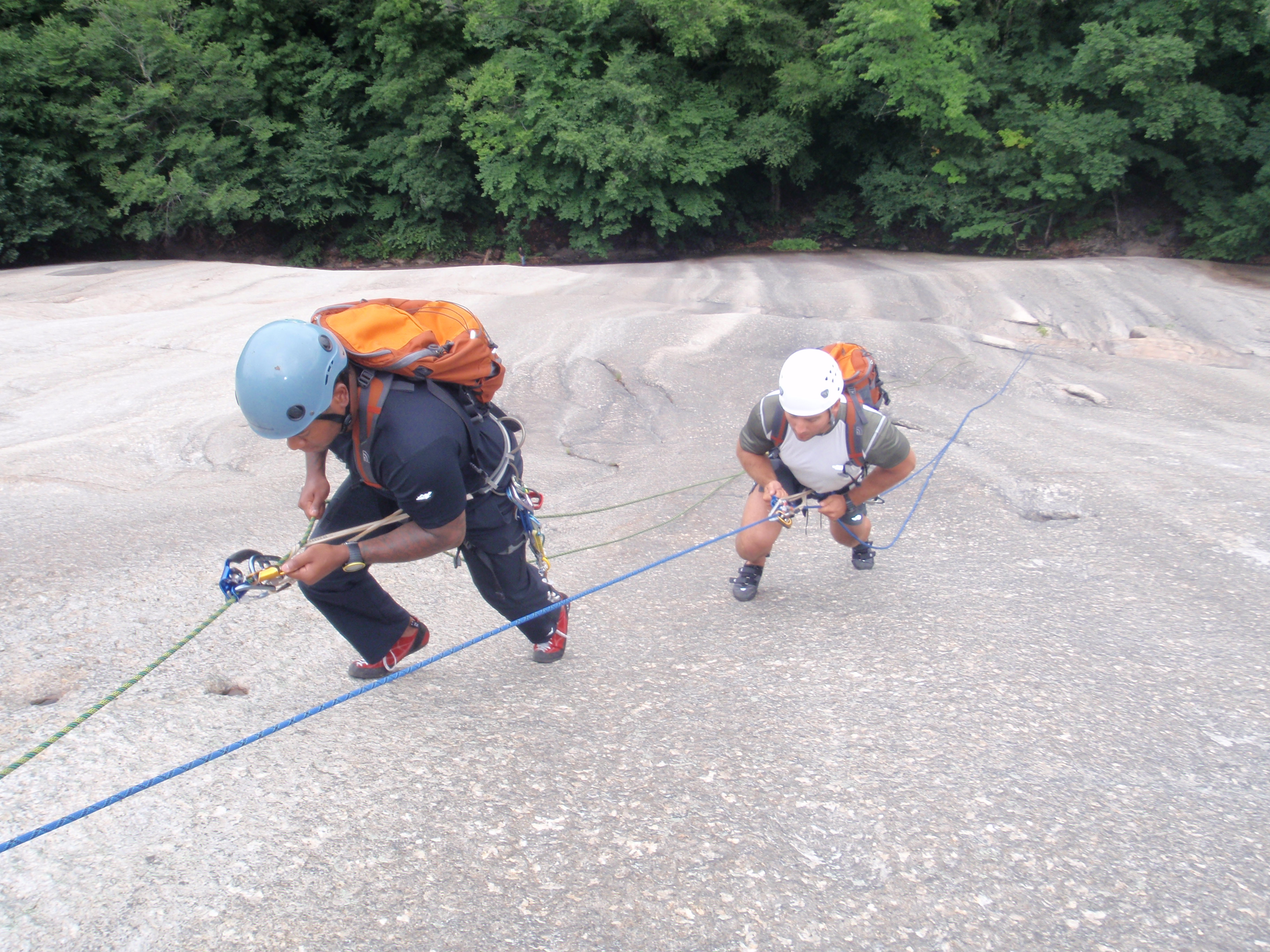 """On our 2nd Day we did some """"assault"""" style climbing on Whitehorse"""