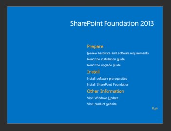 SharePoint Foundation 2013 Splash Screen