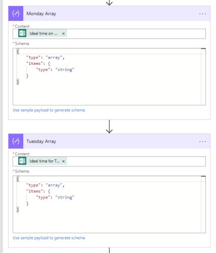 Flow action data operations parse json