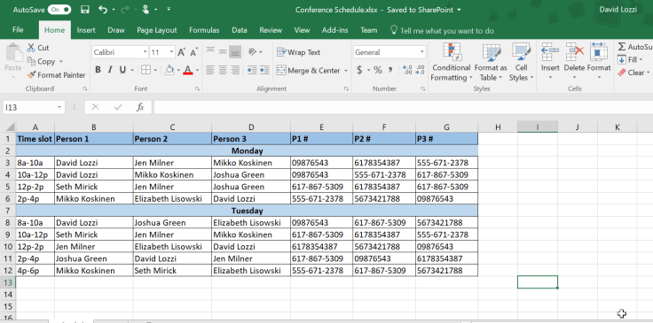 Excel file using vlookups to get Forms data