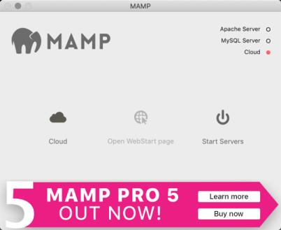 MAMP app screen