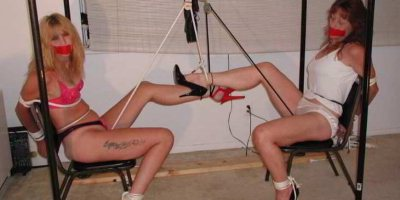Two MILF Crotch Rope Predicament