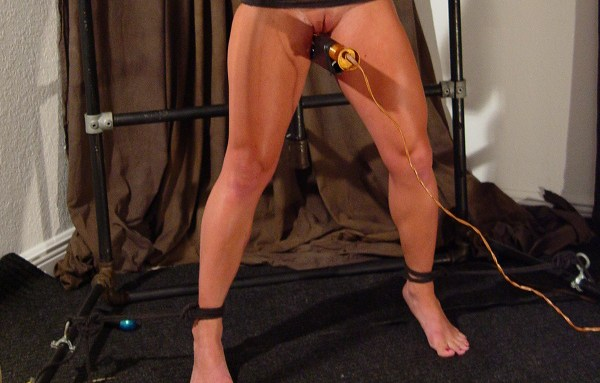 Fit Blonde Anal Impaled