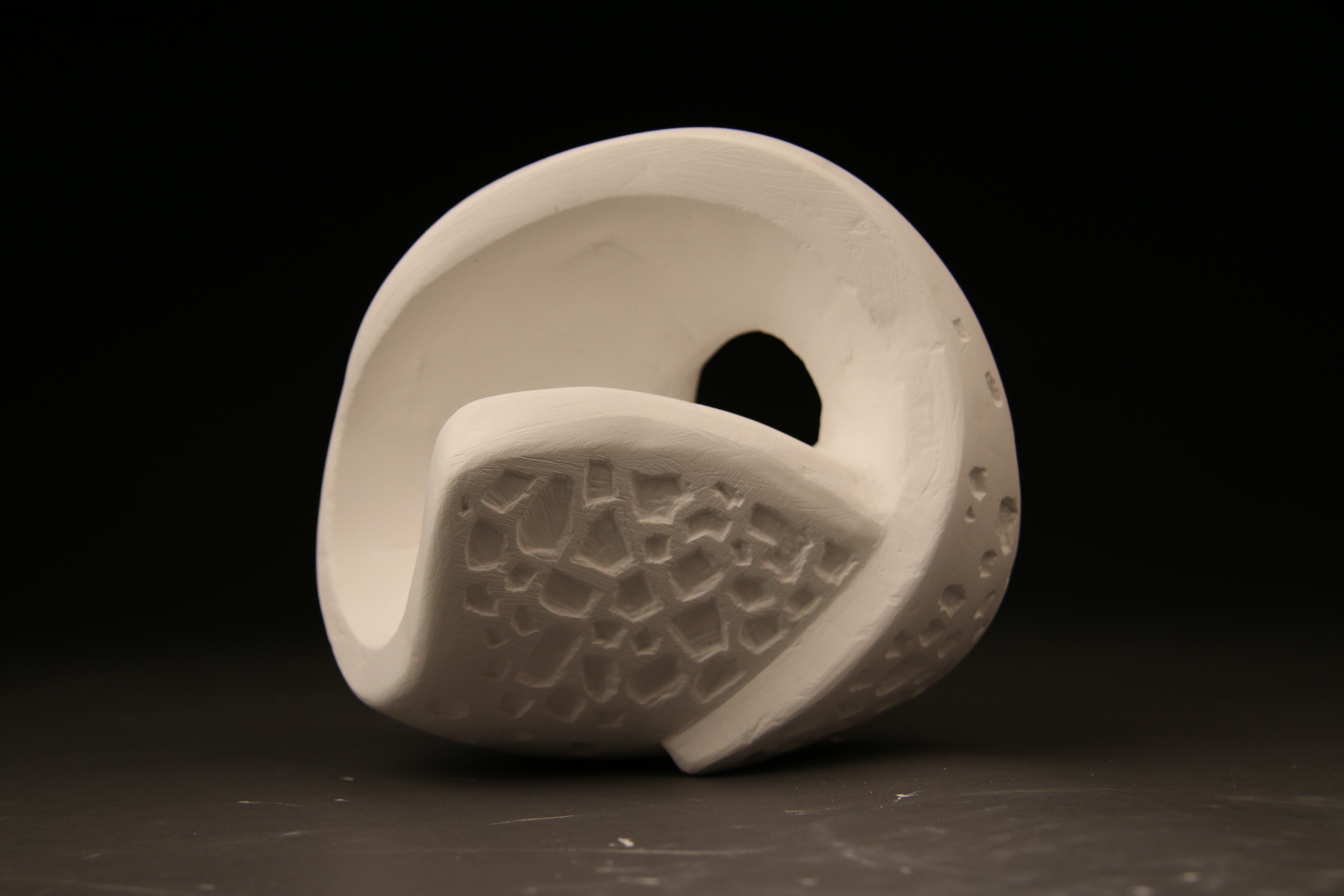 David Marquez  Plaster Carving Non Objective Form Abstraction MorphingTransformation