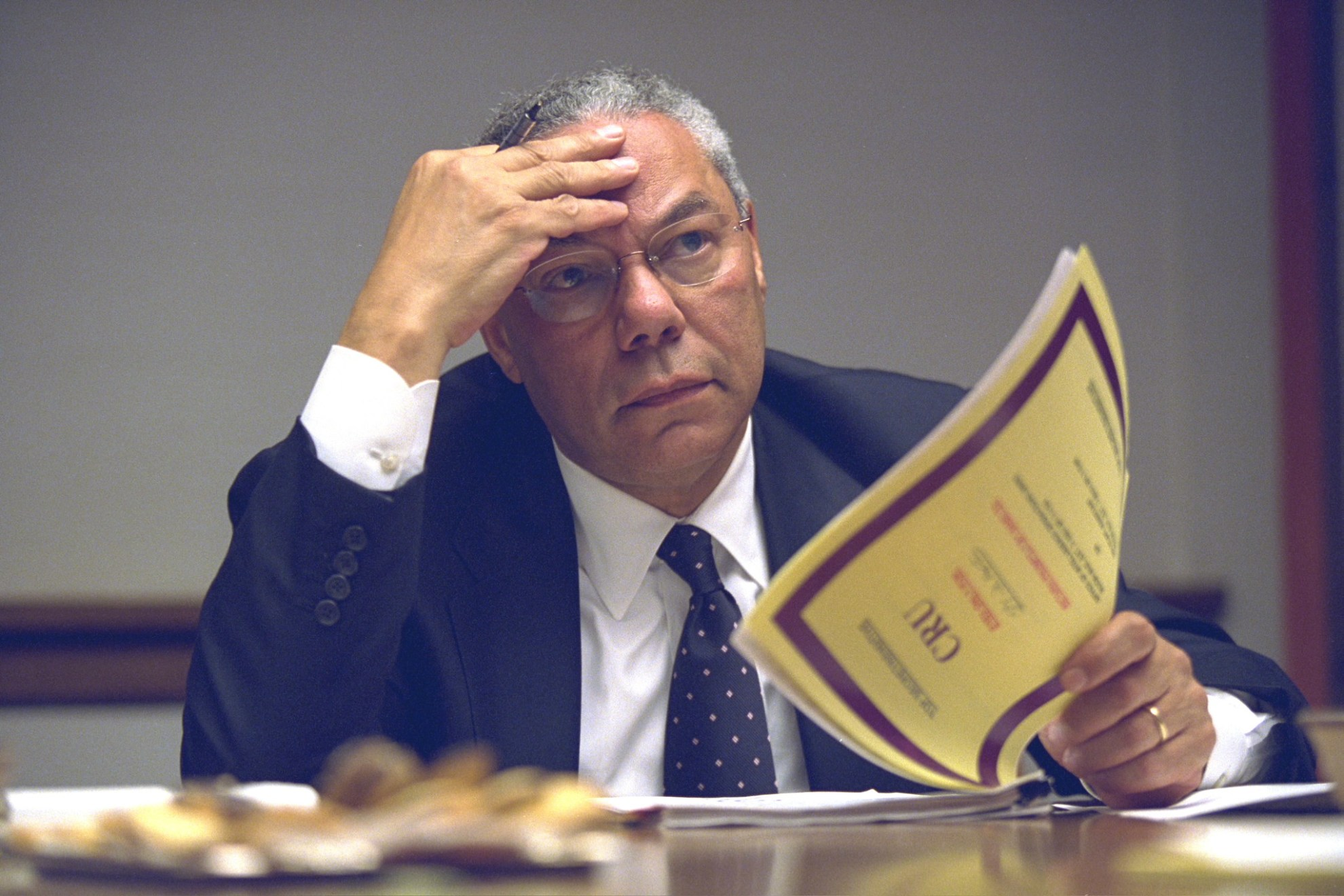 Secretary of State Colin Powell in the President's Emergency Operations Center (PEOC)