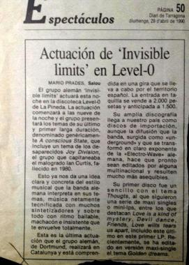 Invisible Limits en Level 0 Prensa