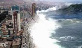Montaje de Antofagasta, Chile pasó por el tsunami de la India de 2004