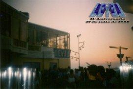 Foto tomada en la terraza, antes del cierre del 11º aniversario