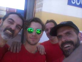 Con el actor Carlos Cuevas, David y Sergi Saéz González