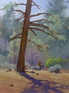 a stroll at cottonwood   12″ x 92″ oil on canvas board SOLD private collection