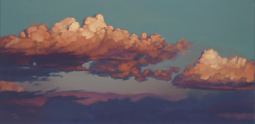golden twilight | 15 x 30 in. oil on canvas