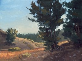 """mount rose trail   9"""" x 12"""" oil on canvas board - SOLD private collection"""