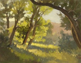 """oxbow - late summer   8"""" x 10"""" oil on canvas board - SOLD private collection"""