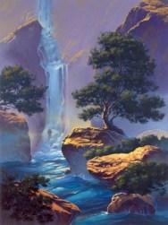"secret cascade | 48"" x 36"" acrylic on canvas"