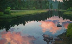 truckee tranquility | large scale oil on canvas | 72 x 117 inches