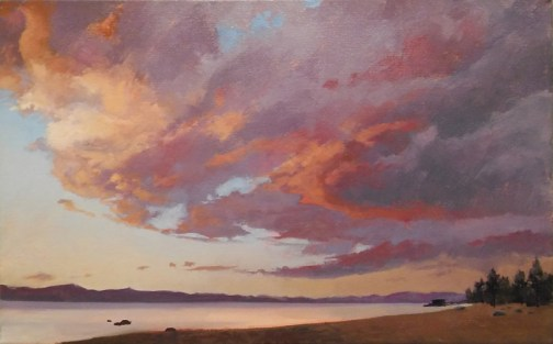 tahoe gold - study | 15 x 26 in. oil on canvas