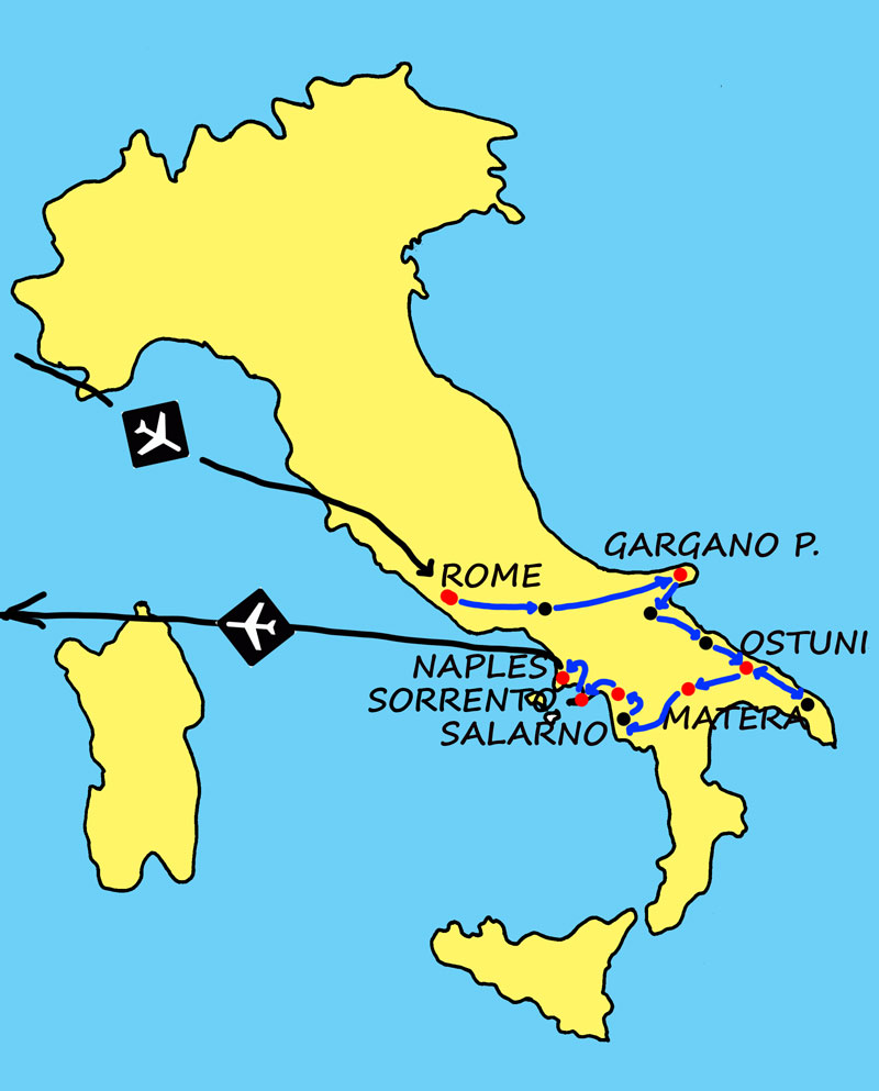 Map Matera Di Italy Sassi