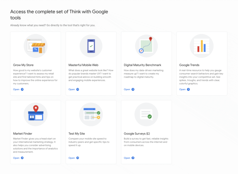 The complete set of free google tools