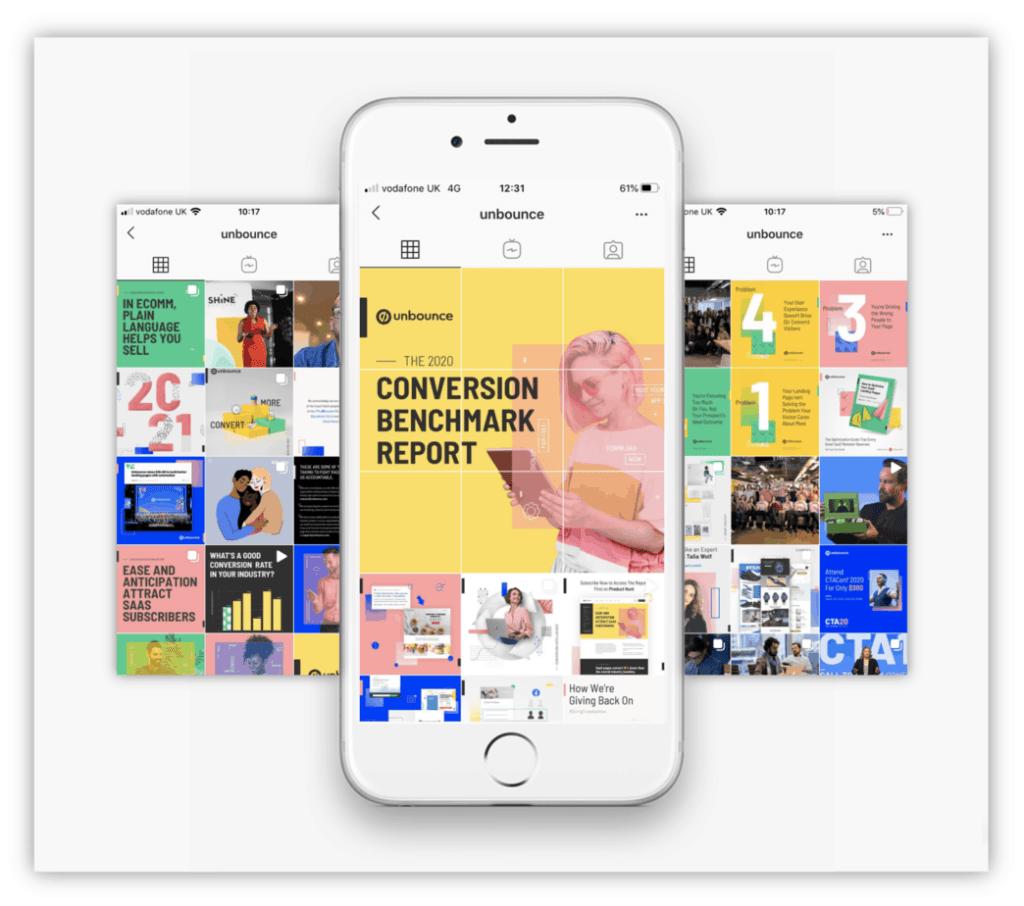 Unbounce Instagram design