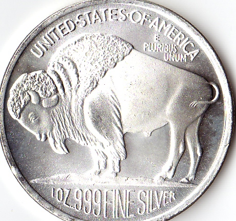 2010 Indian Head And Buffalo Silver Round 1 Oz 999 Fine