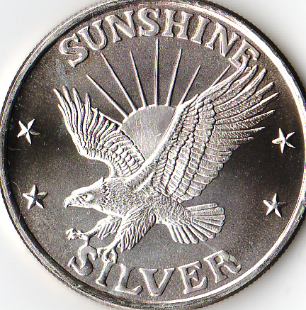 1 Oz 999 Fine Silver Sunshine Mint 4 Star Silver Eagle