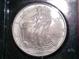2005 Silver American Eagle 1 OZ .999 Fine Silver Dollar - Uncirculated - Obverse