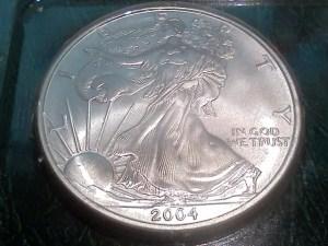 2004 Silver American Eagle 1 OZ .999 Fine Silver Dollar – Uncirculated - Obverse