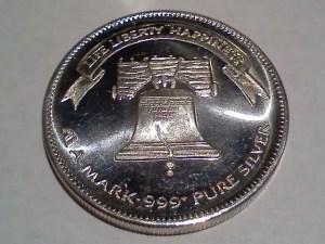 1 OZ .999+ Fine Silver AMark Liberty Round – 1984 - Obverse