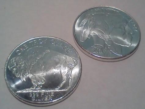 2011 Silver American Indian Head and Buffalo 1 OZ .999 Fine Silver Round