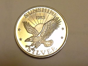 1 OZ .999 Fine Silver Sunshine Mint 4 Star Silver Eagle Round - 1983
