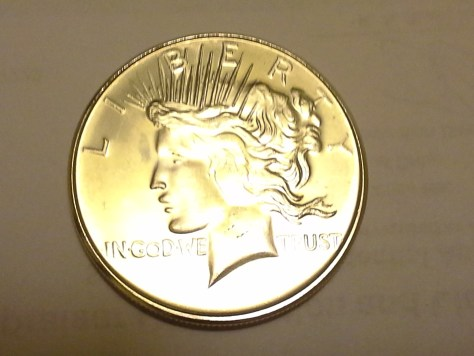 1 OZ .999 Fine Peace Dollar Round