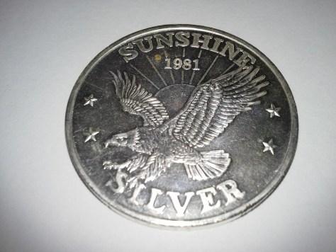 1 OZ .999 Fine Silver Sunshine Mint 4 Star Round – 1981