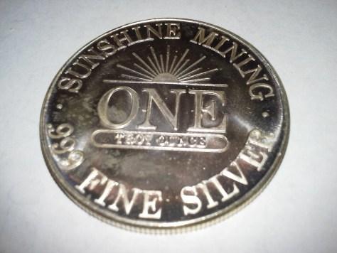 1 OZ .999 Fine Silver Sunshine Mint 4 Star Silver Eagle Round – 1984