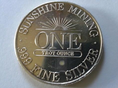 1 OZ .999 Fine Silver Sunshine Mint 4 Star Round – 1989