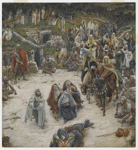 """Ce que voyait Notre-Seigneur sur la Croix"" (What Our Lord Saw from the Cross) - by James Tissot"